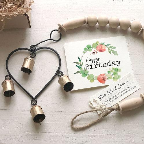 BIRTHDAY HEART WIND CHIME gift box