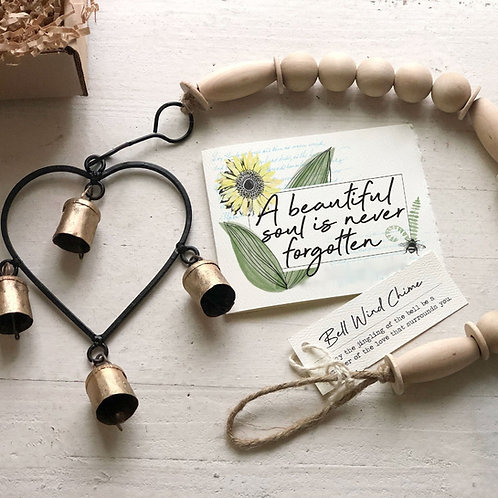 MEMORIAL HEART WIND CHIME gift box