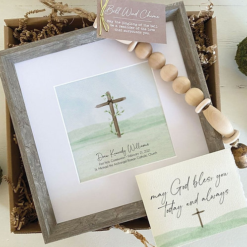 CROSS PAINTING - personalized baptism