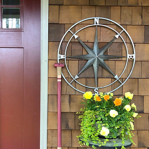 LARGE METAL COMPASS ROSE - 26""