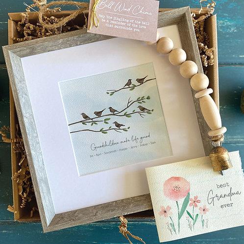 GRANDMOTHER Gift - Birds on a branch art