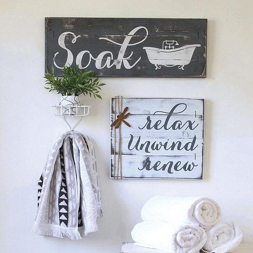 Bathroom Set - 2-3 pcs - Relax, Renew, Refresh