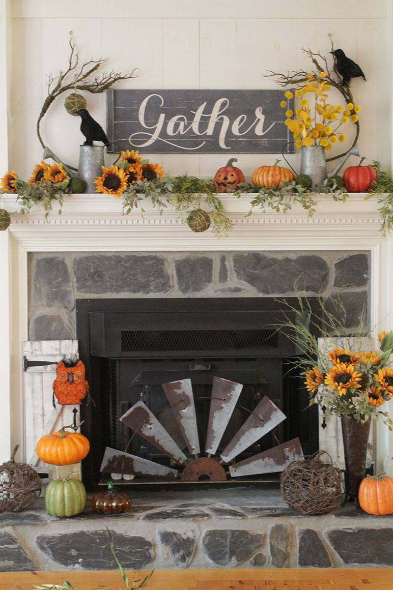 rustic gather sign