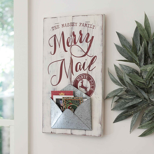 MERRY MAIL  - Christmas card holder