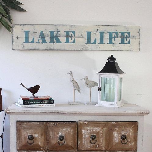 Rustic LAKE LIFE Sign