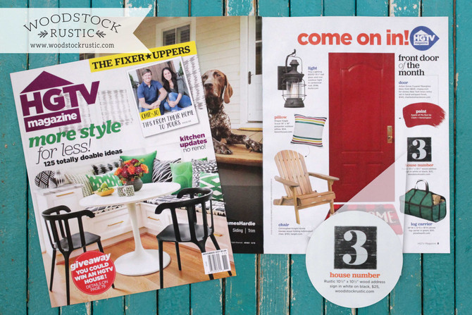 We are featured in HGTV Magazine!