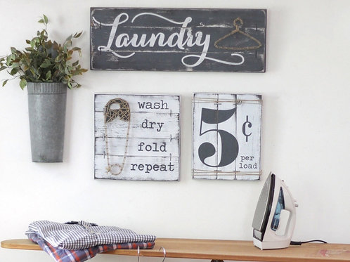 LAUNDRY SIGN SET - 3 pcs.