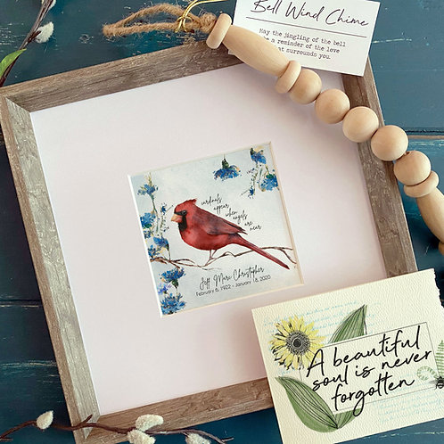 CARDINALS APPEAR memorial painting personalized