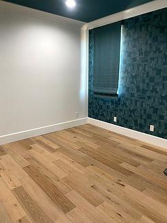 Hardwood Flooring With New Baseboard