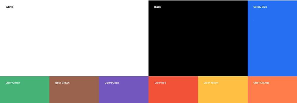 Uber color palette