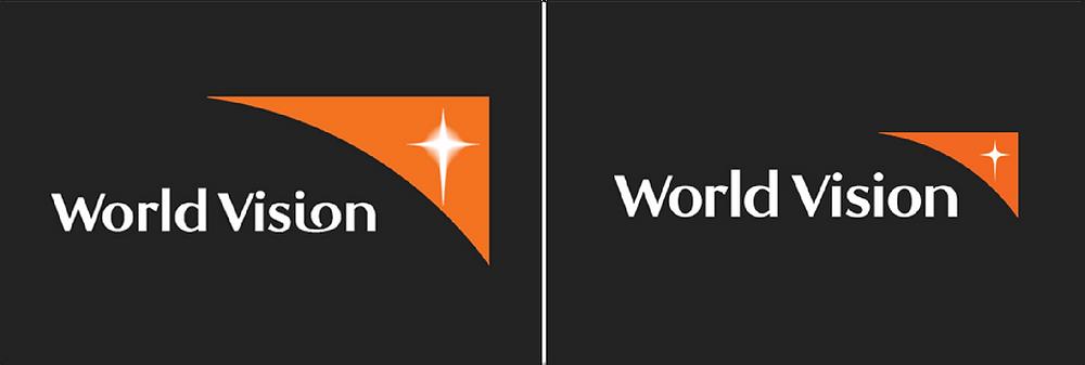 World Vision logo applications