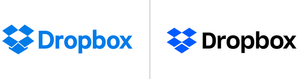 Dropbox logo comparison