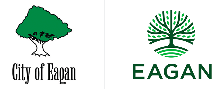 Eagan Logo Before & After