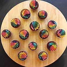 Rainbow minicupcakes (box of 12)