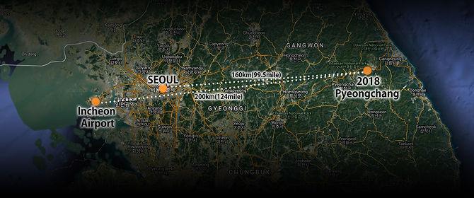 Pyeongchang distance