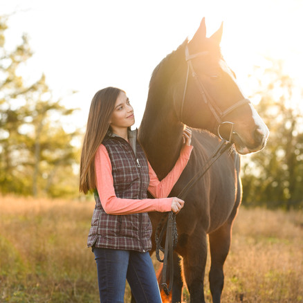 Anastasia & Lilli | Taylorsville, NC | Horse & Rider/Black Background Session