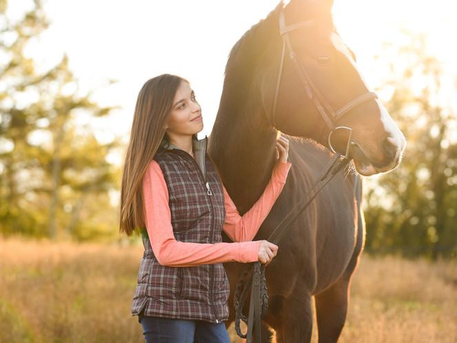 Anastasia & Lilli | Taylorsville, NC | Horse & Rider/Black Background Session