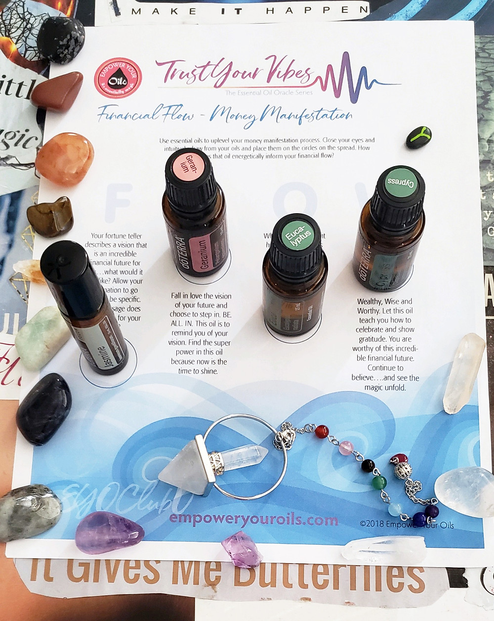 Gina's EYO Financial Flow Essential Oil Oracle Reading