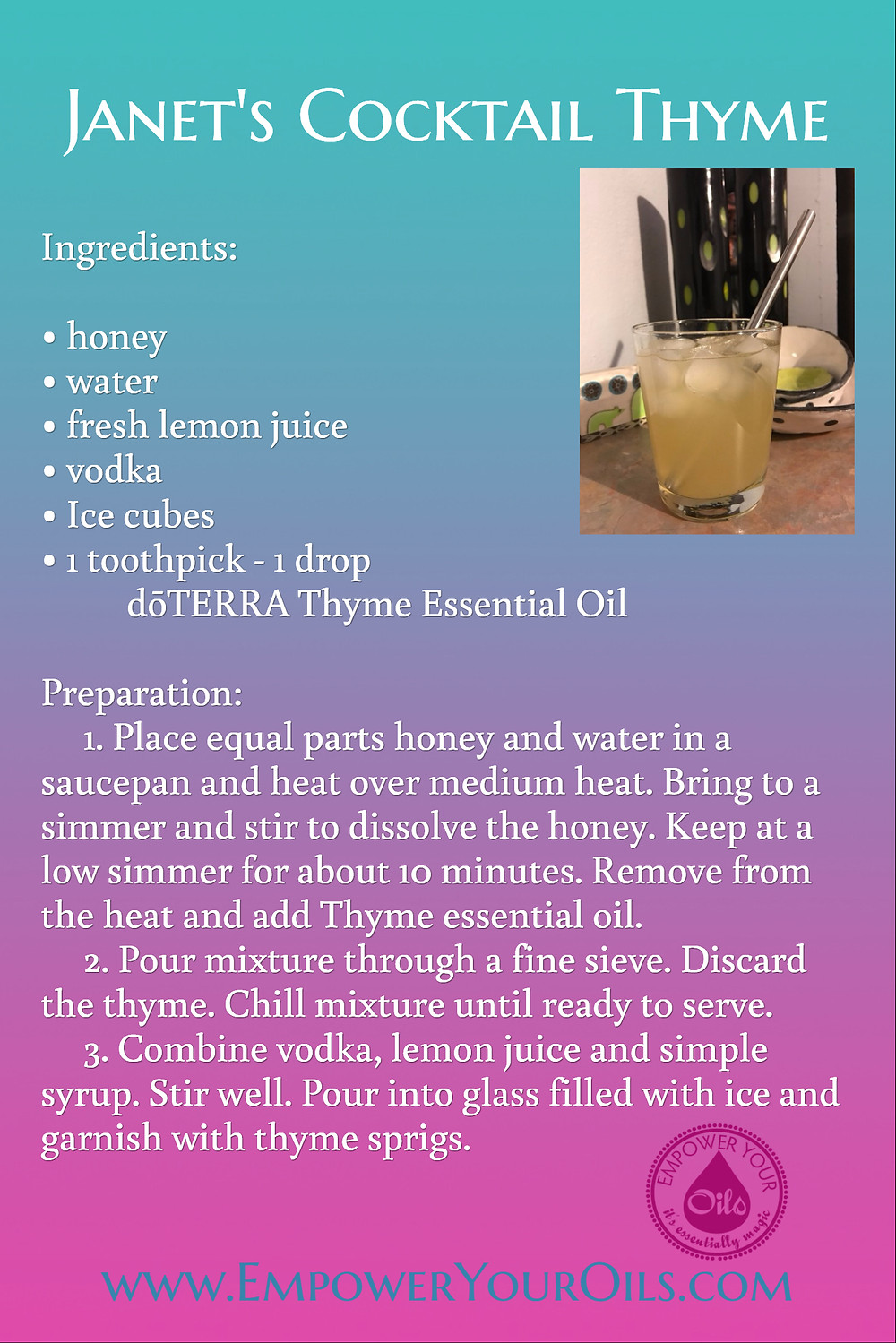 Janet's Cocktail Thyme