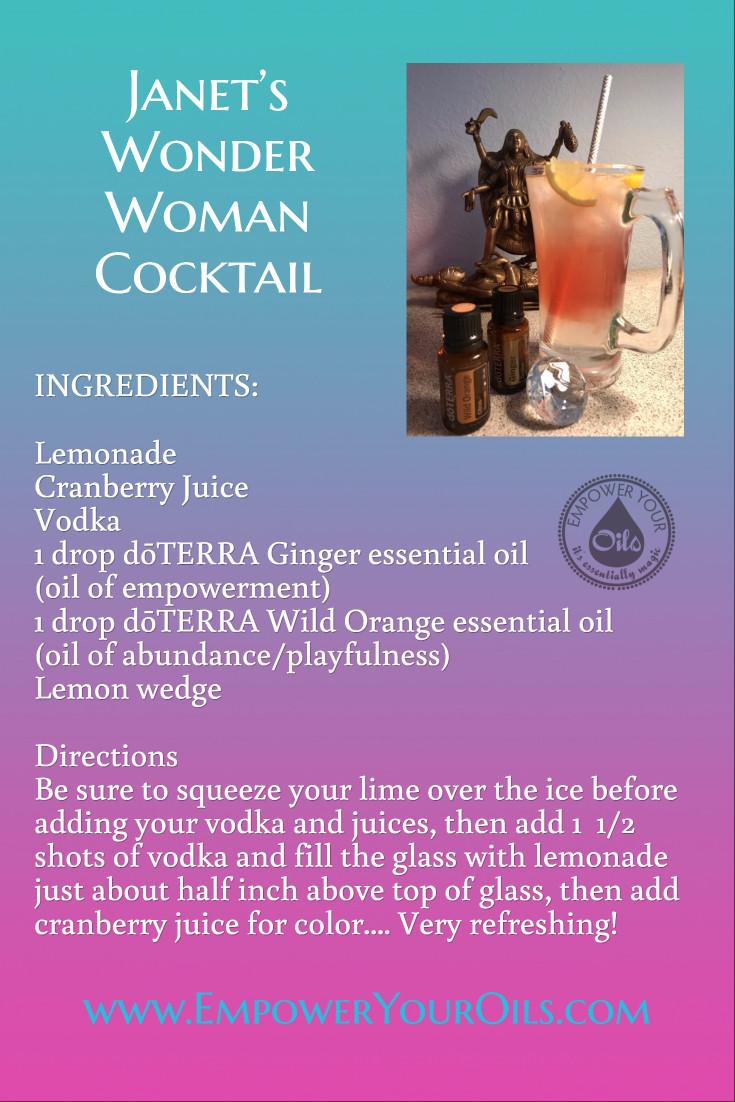 Janets Wonder Woman Cocktail