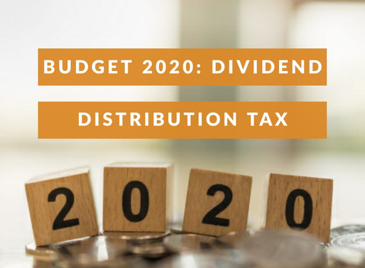 BUDGET 2020 – DIVIDEND DISTRIBUTION TAX