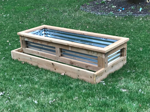 3'x 5' Garden Bed with Side Accent
