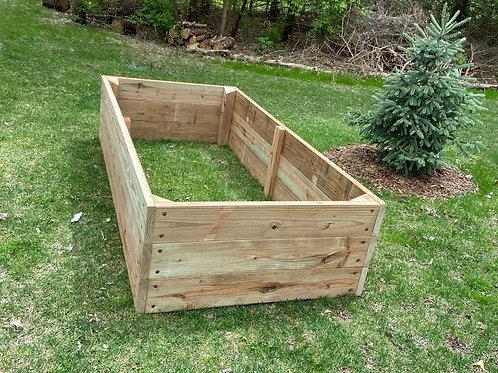 "4' x 8' x 22"" Solid Wood Garden Bed - Cedar Tone Pressure Treated"