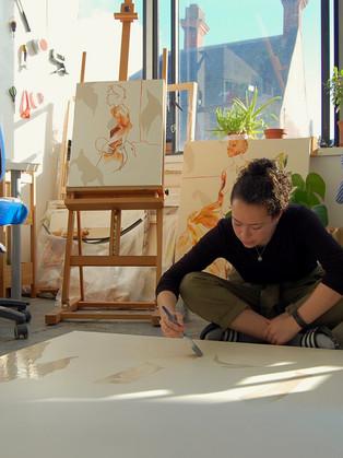 Miranda in her studio