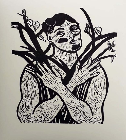 'Woman Holding Branches' by Jessica Jane Charleston