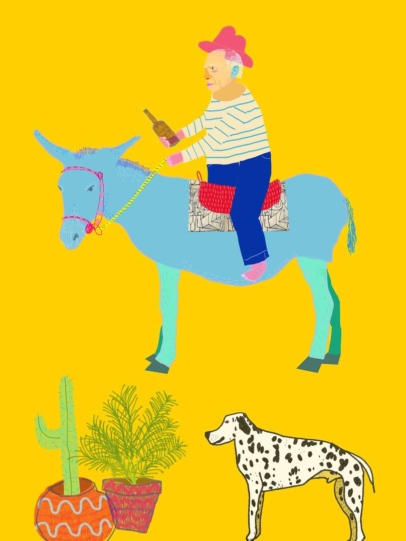 'Picasso Riding his Asso'