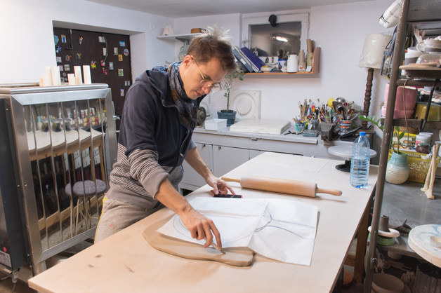 Kryzsztof in his studio