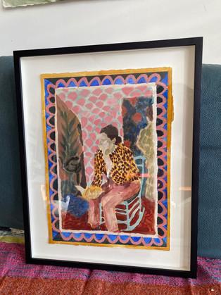 Framed work by Katy Papineau