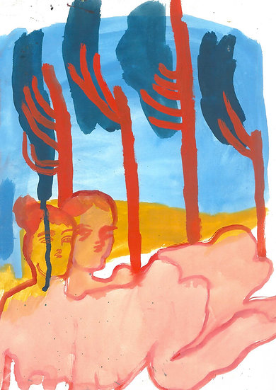 'Pink Flesh, Red Trees' by Jessica Jane Charleston