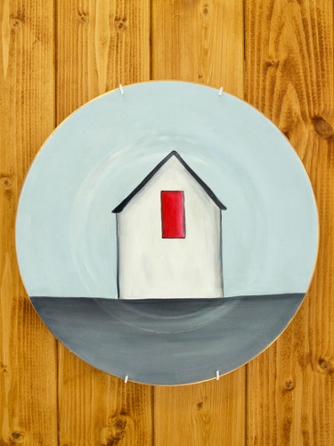 Painted ceramic plates by Evie O'Connor