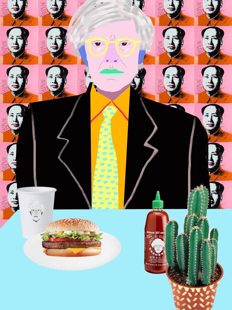 'Warhol Burger. So Hot Right Mao'