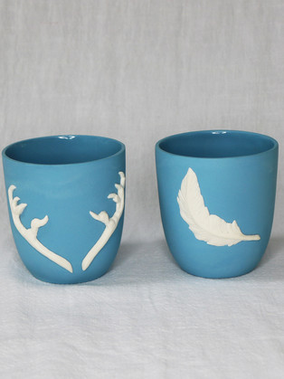 Light Blue Cup Pair by  Roseanne Connolly