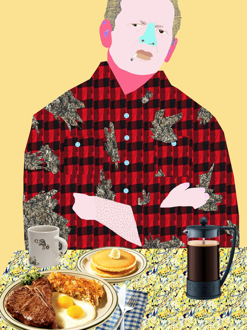 'Jackson's Diner. This Hangover's Pollocks'
