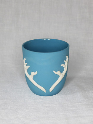 Light Blue Talons Cup by   Roseanne Connolly