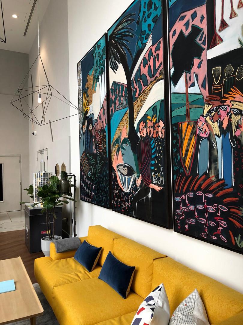 Large triptych commission