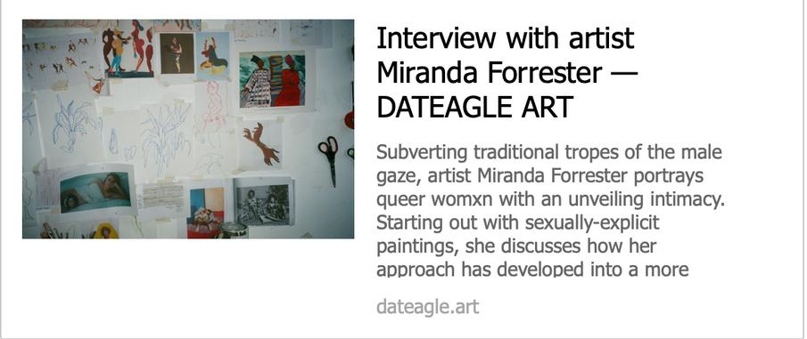 Interview with artist - Miranda Forrester  - DATEAGLE ART