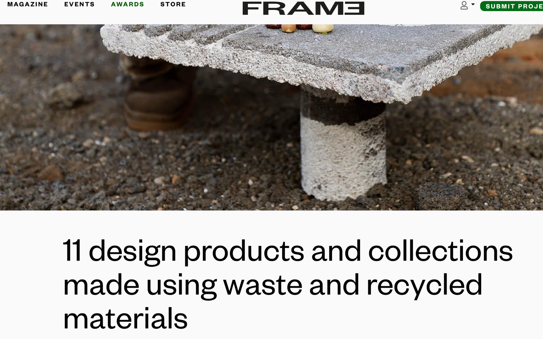 11 desgin products and collections made using waste and recycled materials - FRAME
