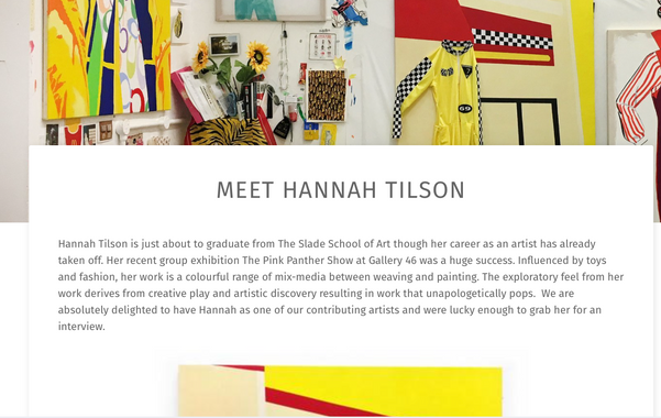 Meet Hannah Tilson. Art on a Postcard.