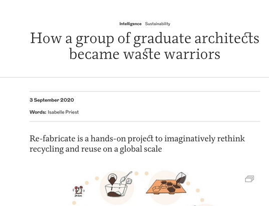 How a group of graduate architects became waste warriors - The Riba Journal