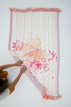 Signature Fabric - Mr. Heeralal Kumar — This fabric is a representation of block printing artisan Mr. Heeralal Kumar, his craft and practice.