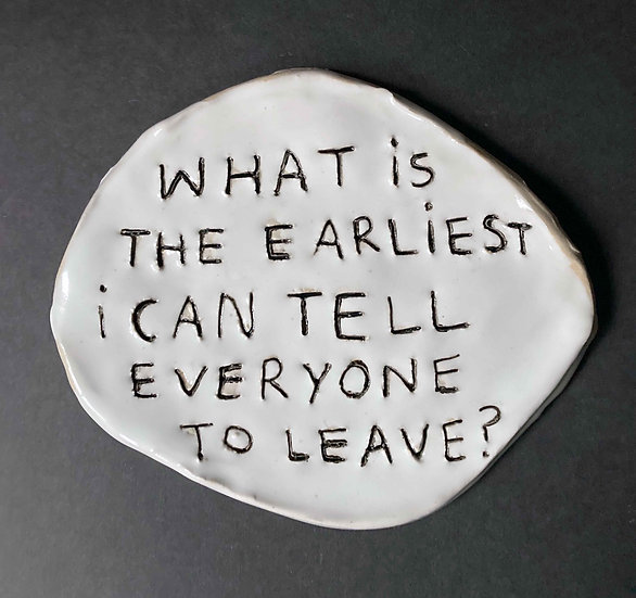 'What is the earliest I can tell everyone to leave.' by Dan Jamieson