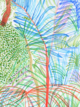 We Have Big Plants For The Summer. e. 2020. 29 x 21 cm. watercolour and brush pen on 300 g