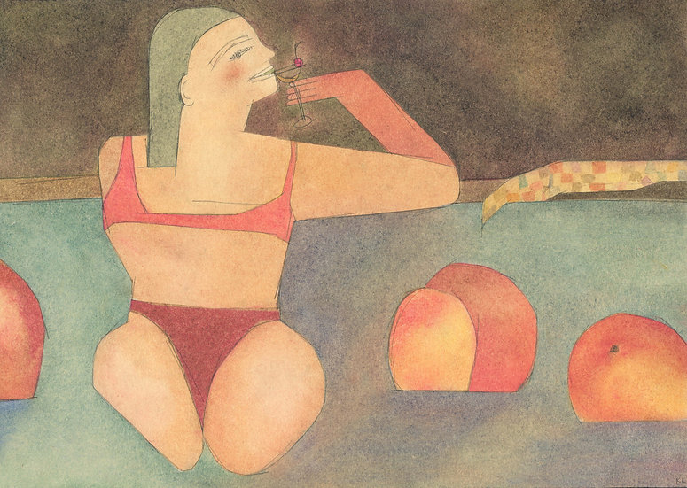 'Peach Lido' by Kirsty Lackie
