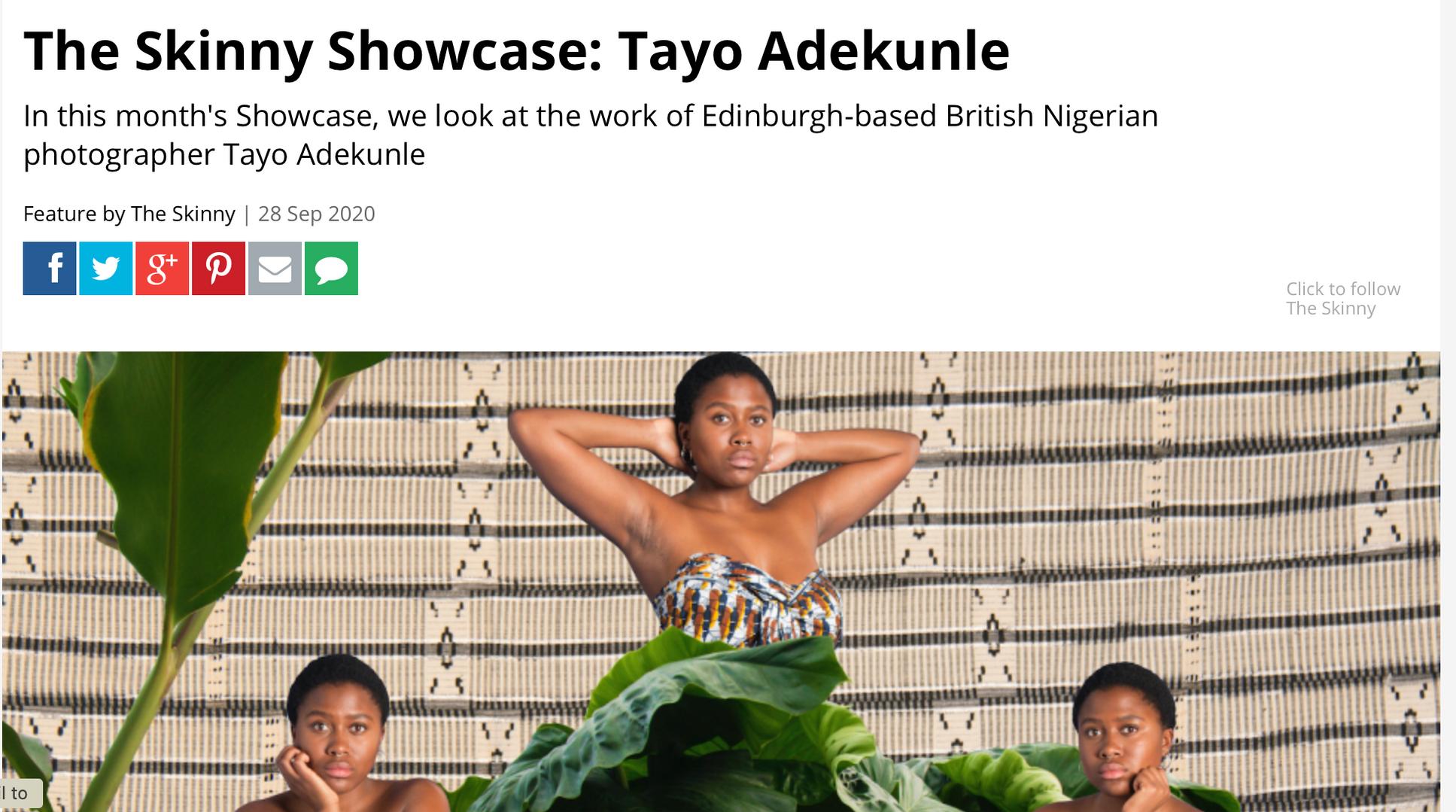 The Skinny Showcase: Tayo Adekunle