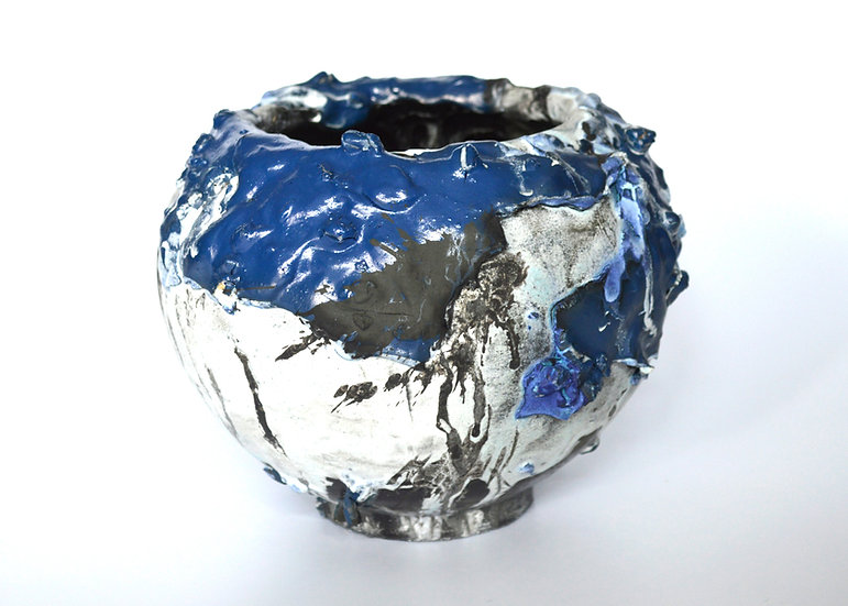 'Blue White, Moon Jar' by Pam Su