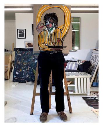 Jack Penny in his studio